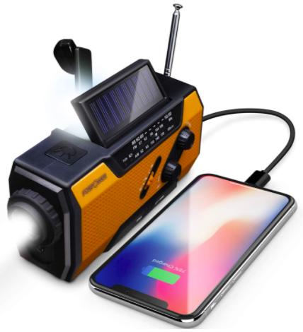 FosPower Solar Crank Radio for Emergency - The Skilled Survivor