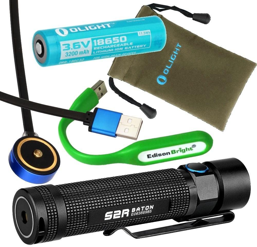 Olight S2R USB Rechargeable CREE LED Flashlight